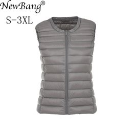 Wholesale women's vests resale online - NewBang Brand Duck Down Vest Women s Ultra Light Down Portable Lightweigt Sleeveless Without Collar Winter Warm Liner