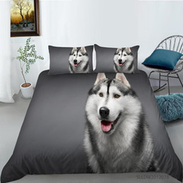 Discount twin size bedding sets dogs Cute Dog Printing Bedding Set 3D Duvet Quilt Cover Queen Sizes Single Twin Double King Size 2 3pcs