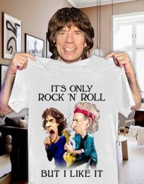 rock n roll t shirts 2020 - It S Only Rock N Roll But I Like It White Designers T Shirt Men Graphic Hoodie cheap rock n roll t shirts