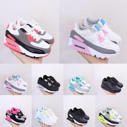 Am 90 loopschoenen Hyper Blue Teal kleine kinderen schoen licht rook grijs roze metallic zilver triple wit aurora groen Volt Barely Sneakers