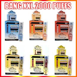 Toptan satış Bang XXL Tek Kullanımlık Vape Kalem Elektronik Sigaralar Cihazı 800 mAh Pil 6 ml Pods Boş Orijinal Vaporlar 2000 Puffs Kit Toptan