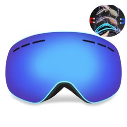 half mask snowboard UK - 70%OFF H igh Quality Local Magnetic Double Layers UV400 Anti-Fog Adult Snowboard Skiing Spectacles Women Men Snow Ski Mask Eyewear
