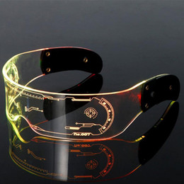 Wholesale LED Luminous Glasses Christmas Party Bar Music Festival Cross-border Prom Glasses Luminous Goggles Suitable For Concerts Bar KTV
