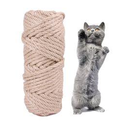 Venta al por mayor de SISAL Cuerda Cat Tree DIY Rasguño Post Toy Cat Stiming Frame Reemplazo Rope Desk Desking Pieds Cuerda de Encuadernación Para Cat Sharpen Claw JK2012XB