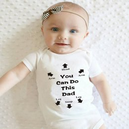 funny baby outfits UK - You Got This Daddy Baby Romper Newborn Infant Girls Boy Short Sleeve Funny Cool Dad Cotton Rompers Jumpsuit Outfit Fathers Gift1