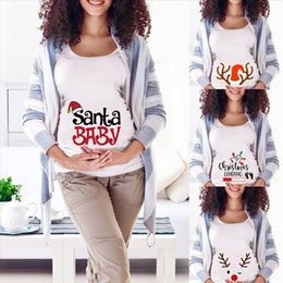 long baby santa hat Australia - Pregnancy Santa Snowman Christmas For Clothes Pregnant Pregnant T Shirts Fashion Women 2020 Tees Tops Maternity Baby Casual Wfgte