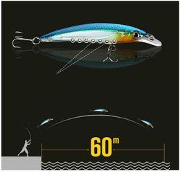 New Lot 8pcs Plastic Fishing Lures Crank Bait Floating Rattles 10cm 7.8g OK
