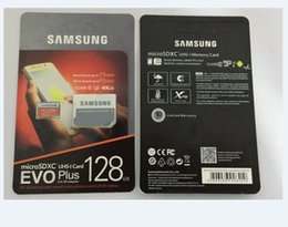 Wholesale 8G 16GB 32GB 64GB 128GB 256GB Original Samsung EVO+ Plus micro sd card U3 smartphone TF card C10 Tablet PC Storage card 95MB S