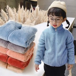 browning goose down jackets 2021 - CROAL CHERIE Kids Winter Fleece Jackets For Boys Girls Parkas Clothes Warm Velvet Teen Clothes Winter Autumn Children Outerwear LJ201017