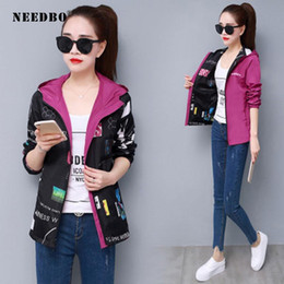 Wholesale woman jackets coats for sale - Group buy NEEDBO Reversible Jacket Woman Casual Outwear Coat Female Jacket Autumn Soring Women Jaquet Long Sleeve Sport