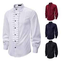 Wholesale men's dress shirts for sale - Group buy Retro Punk Men s Clothing Men Shirt Long Sleeve Shirts Fashion Loose Dress Shirts Night Club Party Social Streetwear Camisa