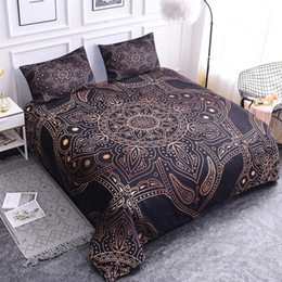 bohemian home decor NZ - 40Bronze Mandala Bedding Sets Duvet Cover Queen   King Size Bohemian Luxury Bedding Home Decor