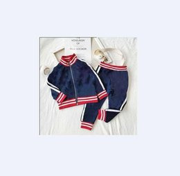 Wholesale clothing girl casual free shipping for sale - Group buy 2019 New Style Children Suit Spring Autumn Boy Girl Suit Kids Clothes Casual Baby Girl Boy Set Costume for T