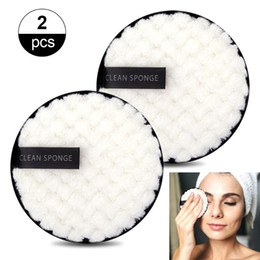 1 2pcs Reusable Makeup Remover Wipes Washable Cleansing Cotton Make Up Remove Towel Microfiber Face Reusable Make-up Disc Tools on Sale