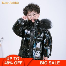boys fur parka 2020 - winter 90% down jacket parka real fur boys coat children's clothing snow wear kids outerwear toddler baby girl clot