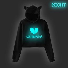 XXXTentacion Prints women hodies fashion hoodies sweatshirts Loose cotton Autumn winter long sleeves jogging Sportswear coat on Sale