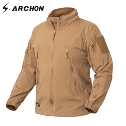 men s tactical jackets Canada - S.ARCHON Clothing New Autumn Jacket Coat Men Military Clothing Tactical US Army Breathable Nylon Light Outwear Windbreaker 201123