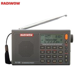 radio portable mw lw sw Australia - onsumer Electronics Radiwow R-108 Digital Portable Radio Stereo FM  LW SW MW  AIR DSP With LCD High Quality Sound Alarm Function For Indo...