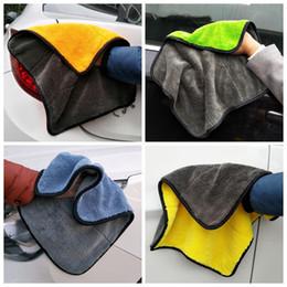 Опт Уход за машинами Полировка мытья полотенца полотенца Plushes Microfiber стирают полотенце полотенце сильные толстые плюшевые полиэфирные волокна очистки автомобиля YHM329-ZWL