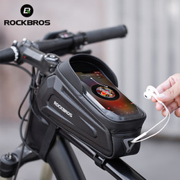 ROCKBROS New Design Cycling Frame Front 8.0 Phone Case Rainproof Touch Screen Bicycle Bag Bike Accessories on Sale