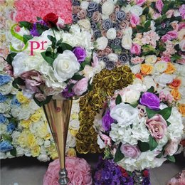 flower backdrop for wedding 2021 - SPR white series artificial wedding flower wall backdrop decoration arch flower table centerpiece ball for party market1