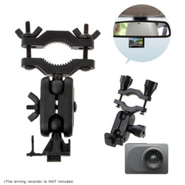 Driving Recorder Bracket DVR Mount Camera Holder Set Car Rearview Mirror Driving Recorder Support Holder For YI Camera1 on Sale