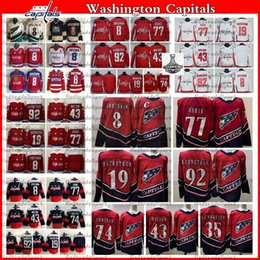 2021 Revers Retro Washington Capitales 8 Alex Ovechkin TJ Oshie Evgeny Kuznetsov Backstrom Wilson Carlson Lundqvist Champions Hockey Jersey en Solde