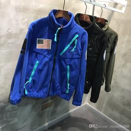 Ingrosso 2020 Mens Hip-Hop Street Fashion Giacche Uomo Antivento a vento Nano Impermeabile Tessuto Top antivento Tessuto importato Fleece Sovraccarico di pelliccia di pelliccia sintetica