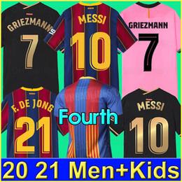 Ingrosso Barcelona Maglia da calcio  BARCA 20 21 camiseta de futbol ANSU FATI 2020 2021 MESSI GRIEZMANN SUAREZ Maillots de maglia da calcio da uomo kit per bambini