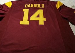 usc football Australia - Cheap Custom #14 Sam Darnold USC Trojans Alumni College Football Jersey Men's Stitched Any Size 2XS-5XL Name Or Number Free Shipping