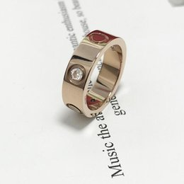 2020 Top Quality 316 Stainless Steel Love Ring For Women Finger Couple wedding ring without box on Sale