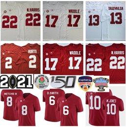 Venta al por mayor de 2021 NCAA Playoff Alabama Crimson Tide Nájee Harris Jersey Mac Jones Tua Tagovailoa Jalen Halen Jaylen Waddle Devonta Smith Henry Football