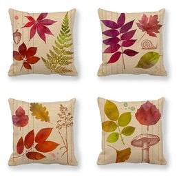 hugging pillow cover Canada - Autumn Leaf Linen Pillowcase Cushion Cover Modern Minimalist Air-Hug Pillow Covers Suitable for Home Pillowcases Pillow Case