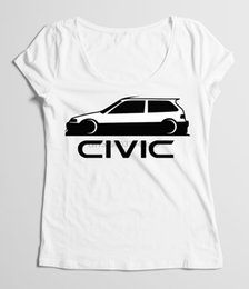 Discount car side graphics 2020 Fashion Hot Japanese Car Civic Side Womens Classic Designers T Shirt Men Graphic Hoodie