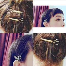 Wholesale Retro Hairpin Plated Gold Small Scissors Lovely New Original Side Clip Personality Fashion Woman Barrettes 0 5dr K2