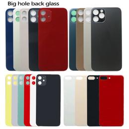 Für iPhone 12 11 8 plus x xs Max Batterie Glasgehäuse Ersatz Rückseite Big Loch Kamera mit Aufklebern im Angebot