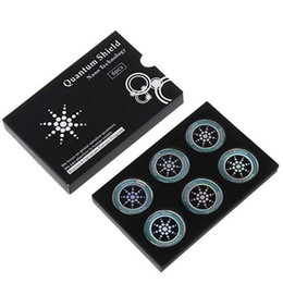 Kuantum Kalkanı Anti Radyasyon Sticker Koruma Amerikan Teknoloji Cep Telefonu Anti EMF EMR Koruma Kutusu 6 Adet / Set Altın Gümüş