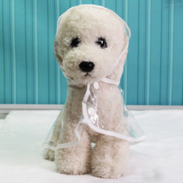 impermeables blancos al por mayor-Perro impermeable peluche perrito perros mascota impermeable ropa ropa ropa ropa perrito transparente impermeable colores W