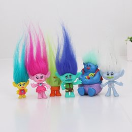 Wholesale cartoons for sale – custom 6Pcs Set Trolls Action Toys Branch Critter Skitter Figures Trolls Children Trolls Action Figure Toy cartoon character