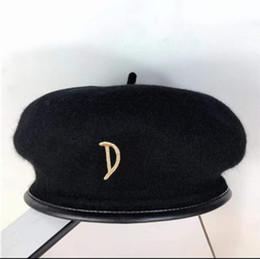 Großhandel Top Qualität Haute Couture Newsboy Mützen Barets Winter Herbst ModeLegant Hüte Britische Stil Mädchen Erets Künstler Maler Kappe Warme Hut
