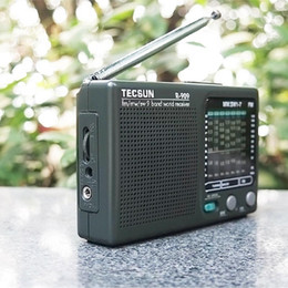 Discount radio waves 1pcs Tecsun R-909 Radio FM Mini Radio Handheld Digital Player LCD Display Medium Wave Short Wave Portable Audio