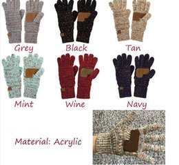 Touch Screen Gloves Winter Women Five Finger Glove Thicken Warm Stretch Woolen Mittens Adults Knitting Gloves Telefinger 15Colors F120504 on Sale