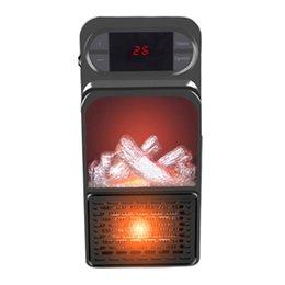 Wholesale Smart Electric Heaters 3d Simulation Flame Heater Fast Portable Mini Air Conditioning Fan Home Desktop US EU