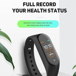 4 мили полосы оптовых-M4 Smart Band Fitness Tracker Sport Bracte Bracte Beart Rate Smart Watch дюймов Smartband Monitor Worldband Woristband PK MI Band