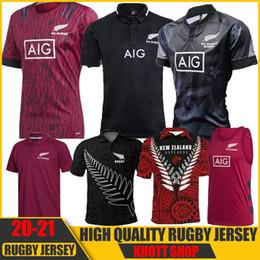 venda por atacado Tudo Nova Chegada 2020 Preto Super Rugby Jerseys Sevens Rugby Camiseta Maillot Camiseta Maglia Tops S-5XL
