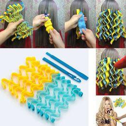 12st DIY Magic Hair Curler 30cm Portable Frisyr Roller Pinnar Slitstarka Skönhet Makeup Curling Hair Styling Tools W-00594