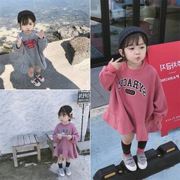 cute girl hoodie NZ - Autumn New Arrival korean version cotton Loose style all-match casual Letters printed hoodie for cute fashion baby girls LJ200812
