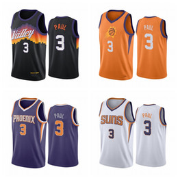 handel trikots großhandel-Chris Paul Phoenix Sonnen Männer Black City Jersey Trade