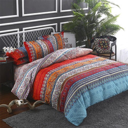 bohemian home decor NZ - Bohemian style bed linen set comforter bedding set Quilt duvets cover set Queen King Bedclothes Pillow case Home decor Textile T200409