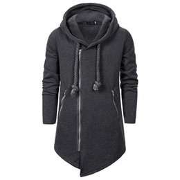 Wholesale men assassin creed hoodies for sale - Group buy Winter European and American fashion men assassin creed black series hoodie casual loose irregular pullover hoodie holiday